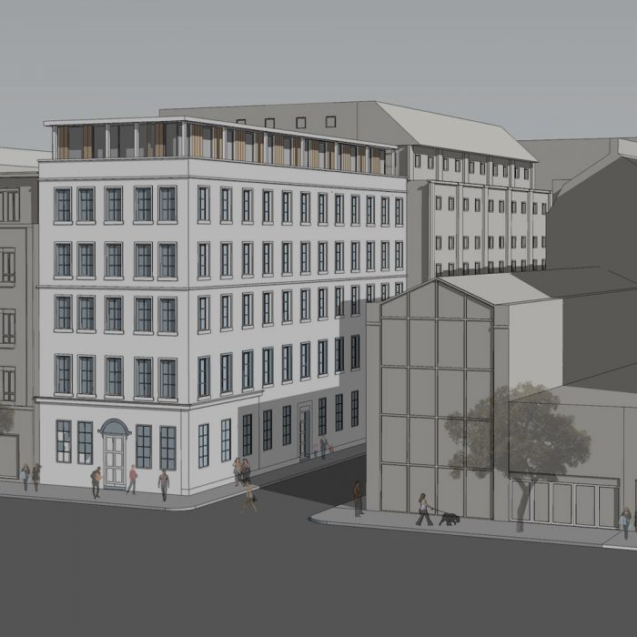 Proposed additional floors to existing office building, Linenhall Street, Belfast